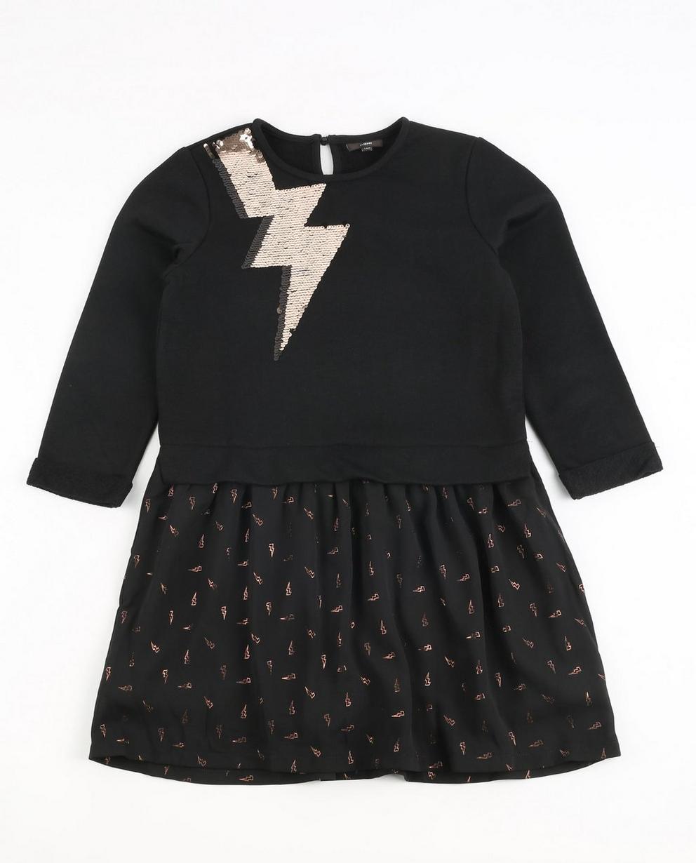 Kleid mit Pailletten - und Allover-Metallic-Print - JBC